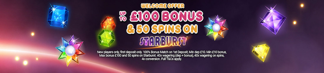 Welcome offer on Starburst
